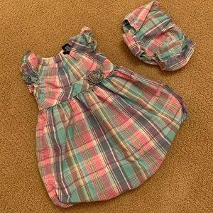 Chaps baby girl dress-EUC